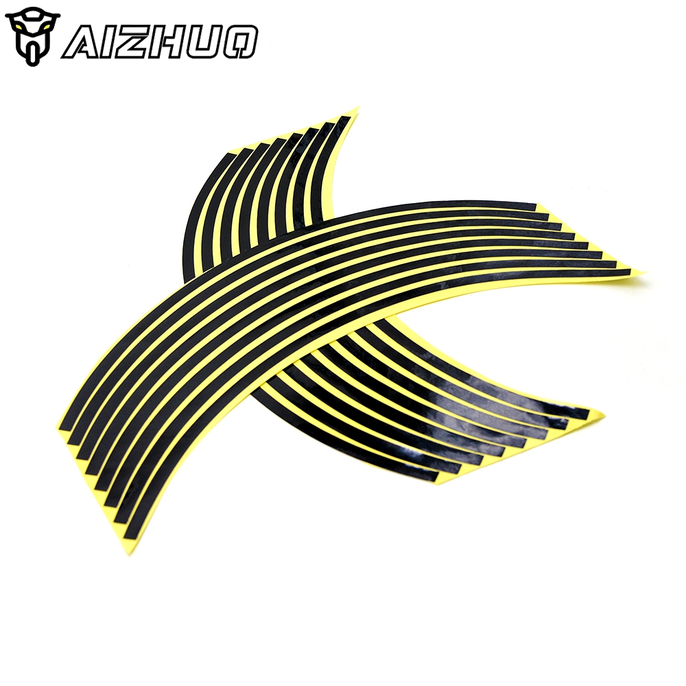 16 Strips 17inch/18inch Wheel Motorcycle Wheel Tire Rim Stickers For Aprilia TUONO R V4R Factory V4 R MANA 850 RS 125 250