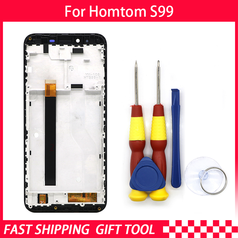 Touch Screen LCD Screen LCD Display For HOMTOM S99 Digitizer Assembly With Frame Replacement Parts+Repair Tool(China)