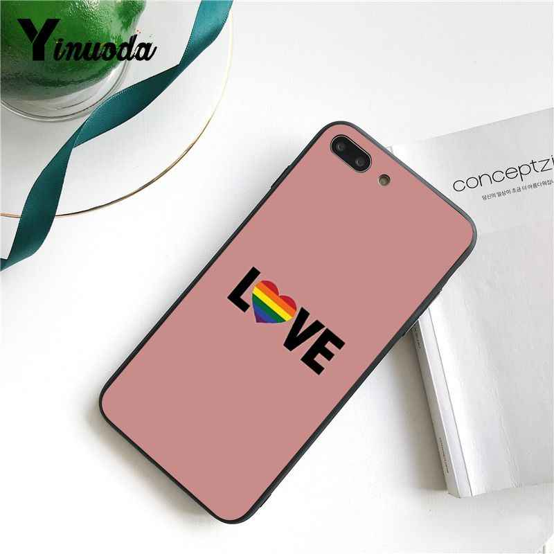 Yinuoda Homosexuell Lesben LGBT Regenbogen Stolz Nach Foto Weiche Telefon Fall für iPhone 6S 7 7plus 8 8 plus X Xs MAX 5 5S XR 11 Pro Max