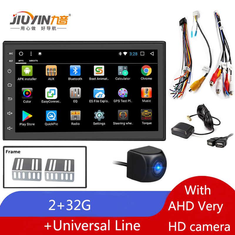 JIUYIN Android 8.1 2 + 32G 2 Din araba Stereo GPS navigasyon araba multimedya oynatıcı radyo Mazda Peugeot volkswagen Nissan Hyundai