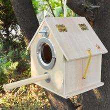 Bird Nest Pigeon House Wooden Parrot Breeding Box Outdoor Garden Shelter Habitat