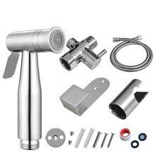 Hand Bidet Faucet Bathroom Handheld Toilet Bidet Sprayer Set Stainless Steel Attachment Hand Sprayer Shower Head Self-Cleaner