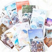 40 Pcs/pack Journal belles photos décoration autocollants Mini papier autocollant bricolage Journal Album Scrapbooking autocollant papeterie