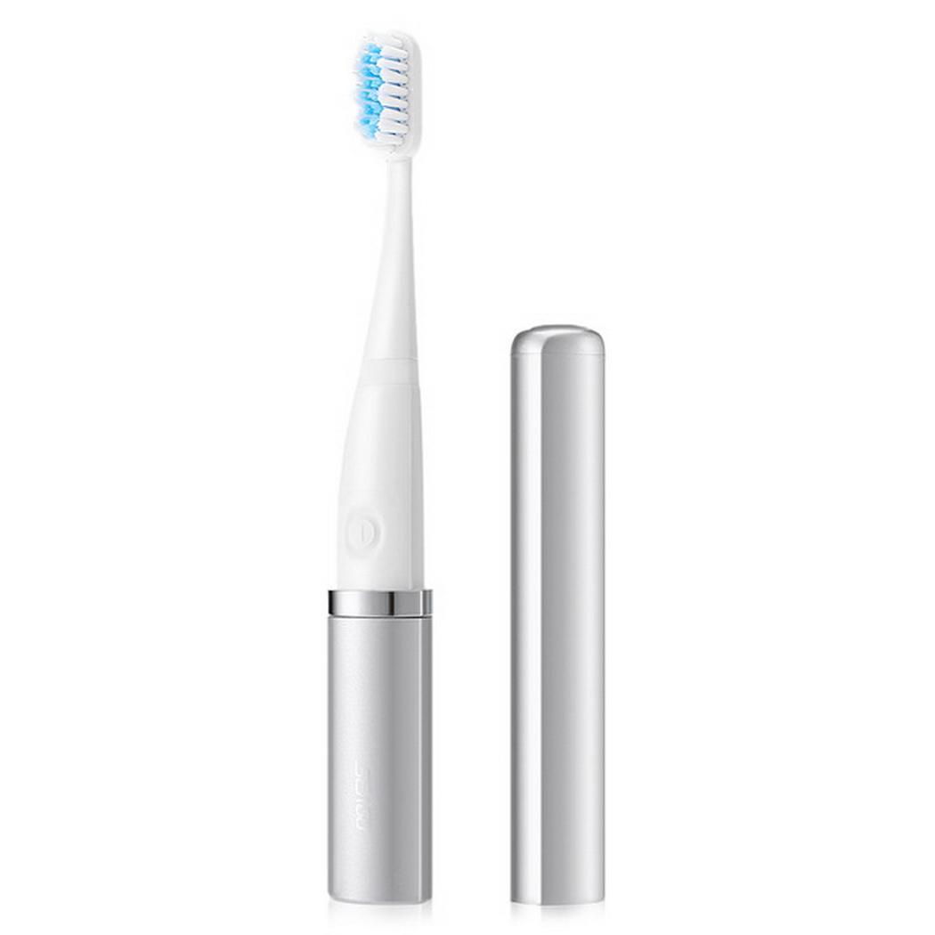 Children Electric Toothbrush Battery Type With Cap Electric Toothbrush Teeth Brush For Kids with 2pcs Replacement Heads For Kids image