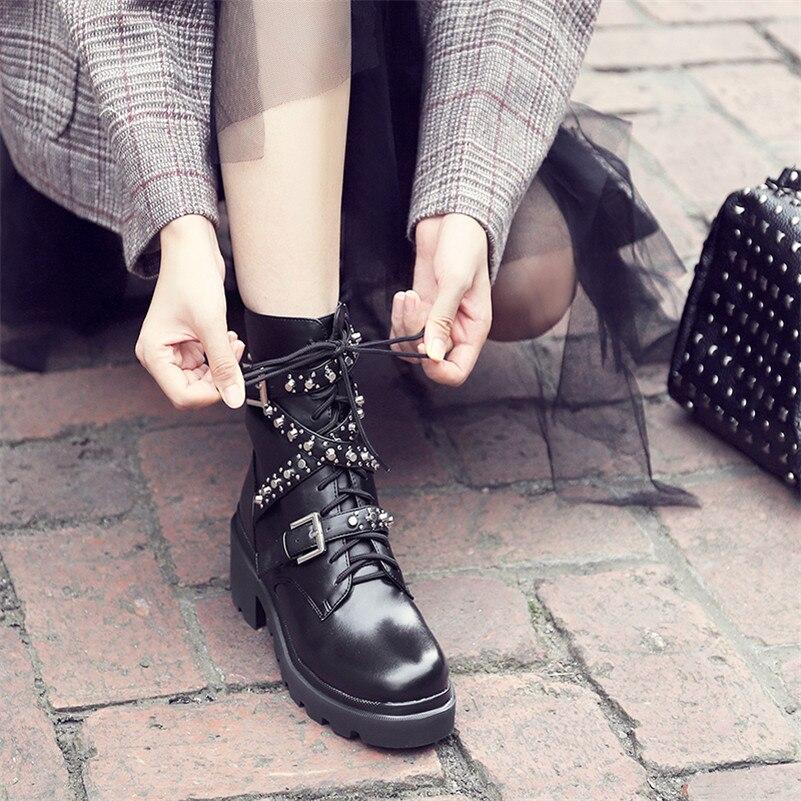 Женская обувь из нубука и искусственной кожи; большие размеры; ботильоны на платформе с бахромой; женские зимние ботильоны с пряжкой; цвет к... - 6