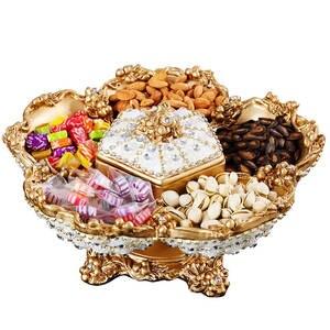 Tray Trinket-Dish Fruit-Plate Dried-Fruit European Snack Rhinestone Creative Luxury Top-Grade