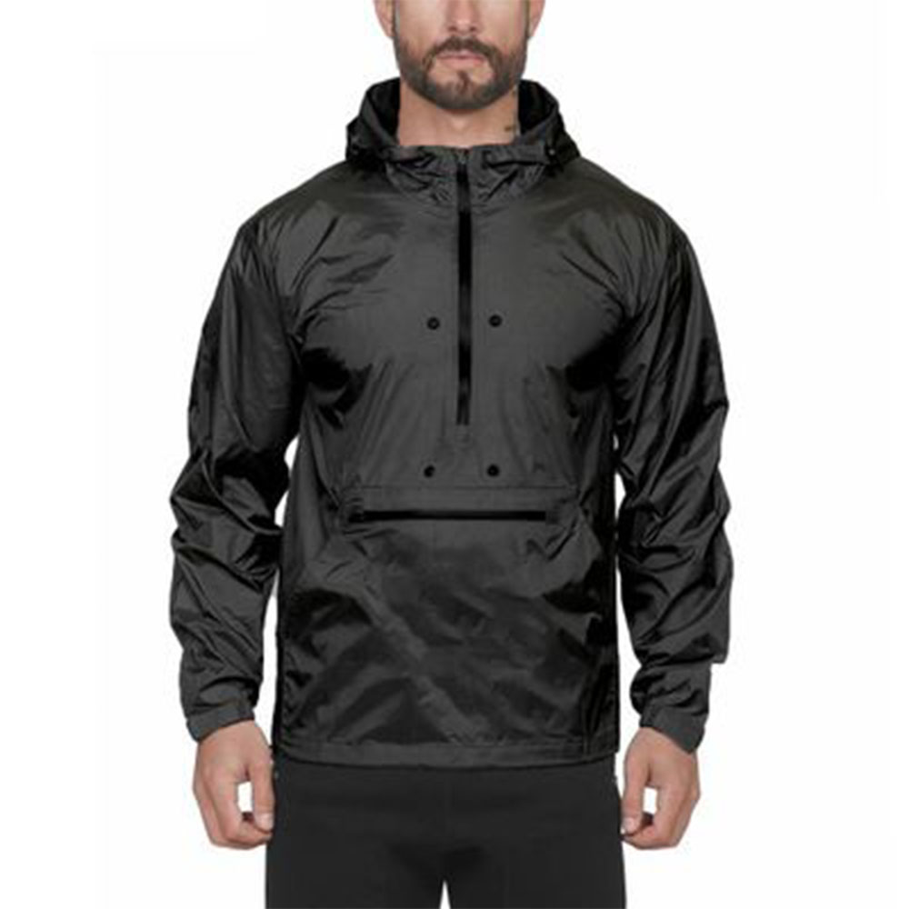 Autumn And Winter Men's Zipper Hooded Jacket Outdoor Cycling Camping Windproof Waterproof Hooded Long-Sleeved Fishing Clothes