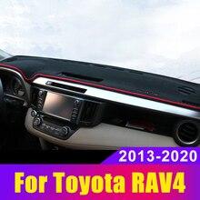 Приборной панели автомобиля крышка коврики Избегайте светильник коврик приборная панель Настольный коврик для Toyota RAV4 2013- аксессуар