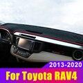 Покрытие приборной панели автомобиля коврики Избегайте света Pad Инструмент платформа стол ковры для Toyota RAV4 2013-2017 2018 2019 2020 аксессуары