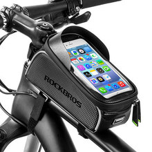 Bicycle Bag Waterproof Touch Screen Cycling Bag Top Front Tube Frame MTB Road Bike Bag Phone Case Bike Accessories cbr outdoor cycling bike touch screen top tube bag black grey
