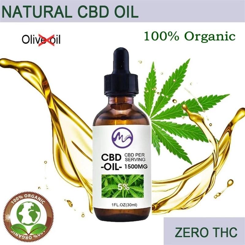 Minch 100% органическое масло конопли КБД для снятия боли в коже, биоактивный Экстракт семян конопли, капля для снятия боли в шее, уменьшение бес...