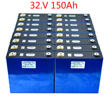 New 16PCS 3.2V 150Ah Lithium Iron Phosphate Cells Lifepo4 Battery DIY Solar 12V 24V 48V Battery Pack TAX FREE By UPS or FedEX(China)