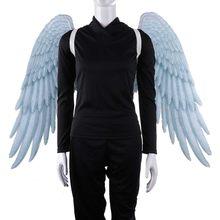 Cosdaddy halloween mostrar asas dos homens cosplay adereços festa anjo asas brancas asas pretas