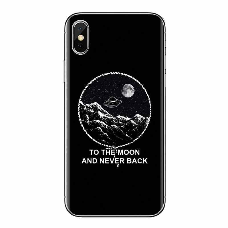 TPU Bao da Dành Cho Samsung Galaxy Samsung Galaxy S2 S3 S4 S5 MINI S6 S7 Edge S8 S9 Plus Note 2 3 4 5 8 Coque Fundas đen trắng mặt trăng sao không gian