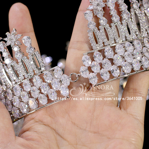 Image 5 - Fashion Tiara Princess Tiara Headdress Wedding Hair Accessories Big Crown Princess Bride Hair Accessories Bride  A00658
