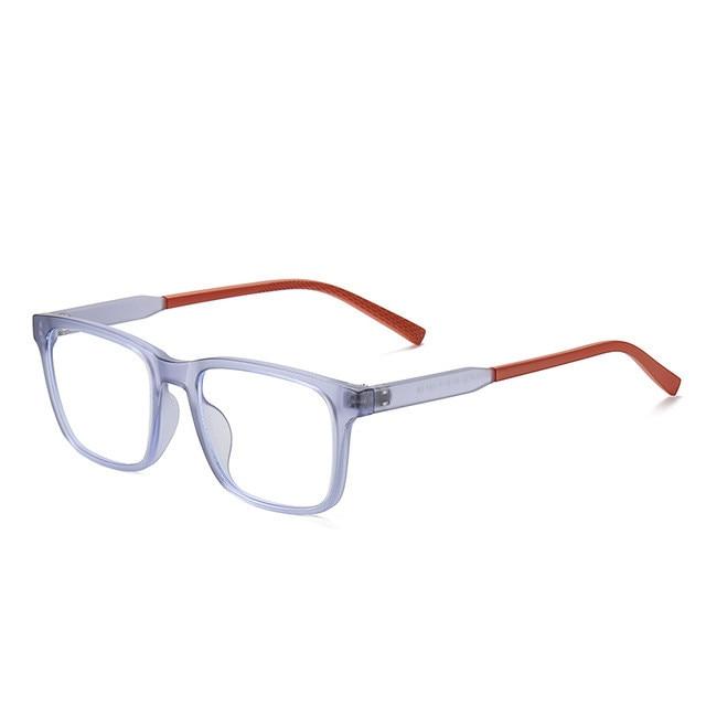 Модный синий светильник блокирующие очки Детские квадратные