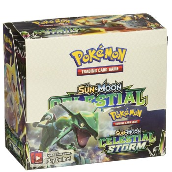 324 Cards Pokemon TCG: Sun & Moon Celestial Storm 36-Pack Booster Box Trading Card Game Kids Collection Toys 1