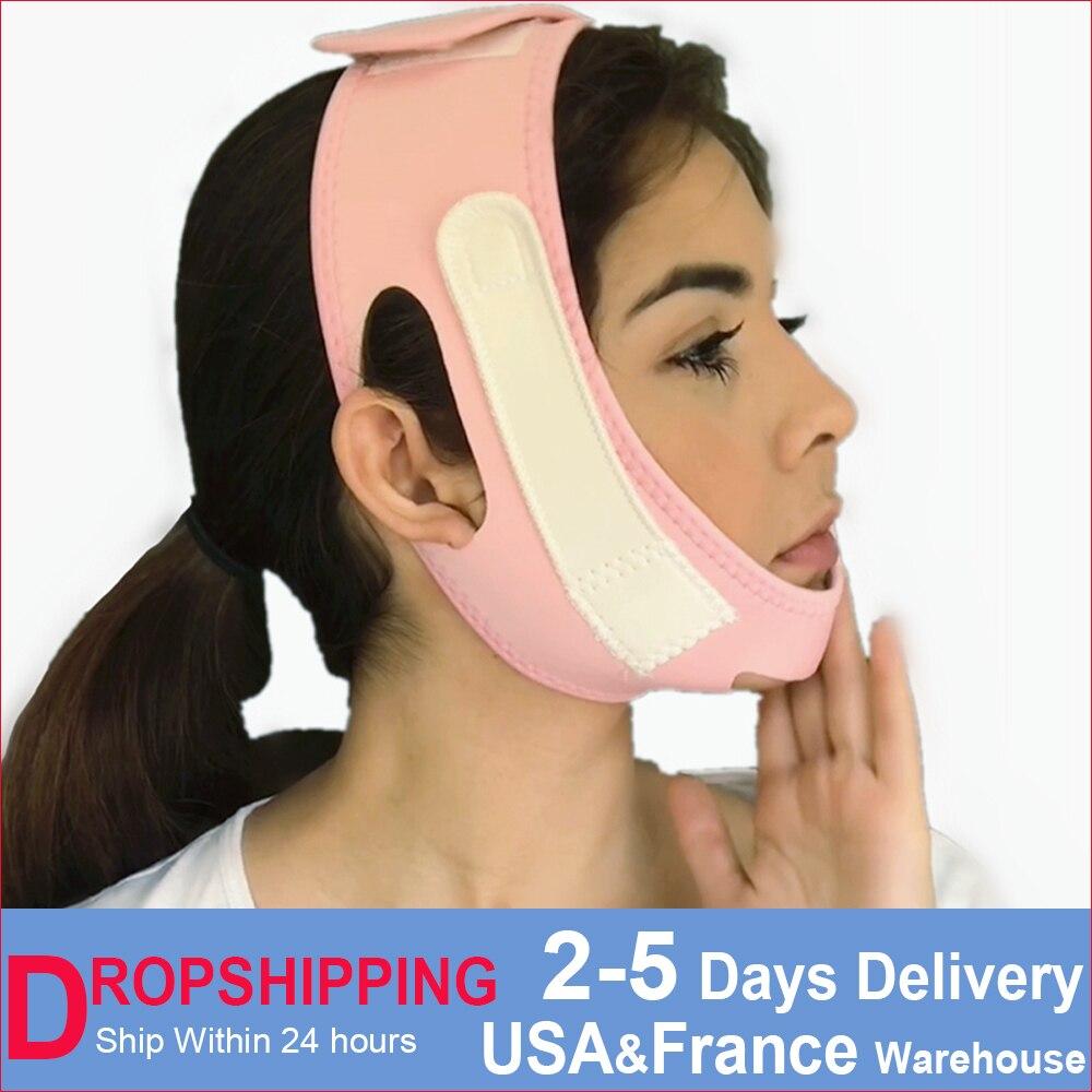 Gesicht Schlank V-Linie Lift Up Maske Wange Kinn Neck Abnehmen Dünne Gurtband Schönheit Zarte Gesichts Dünne Gesicht Maske Abnehmen Verband