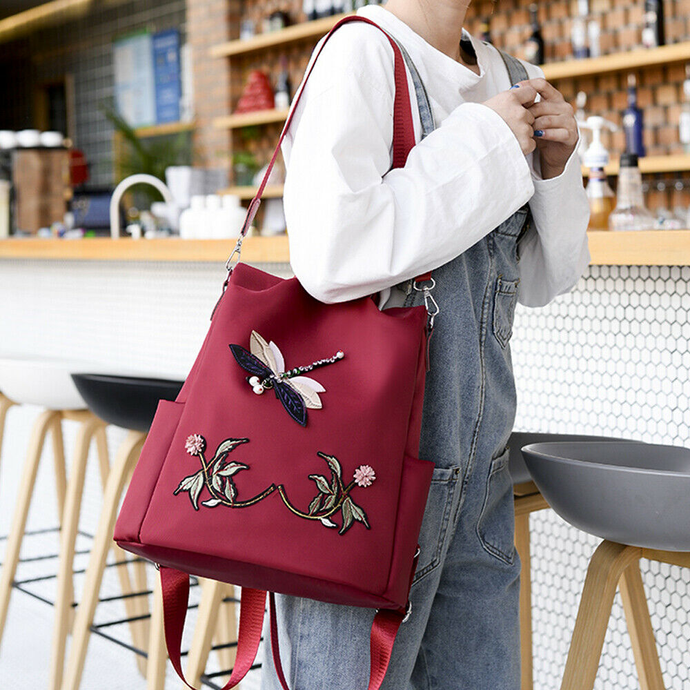 Fashion Chinese Style Embroidery 3D Pattern Backpacks Anti Theft Women Backpack