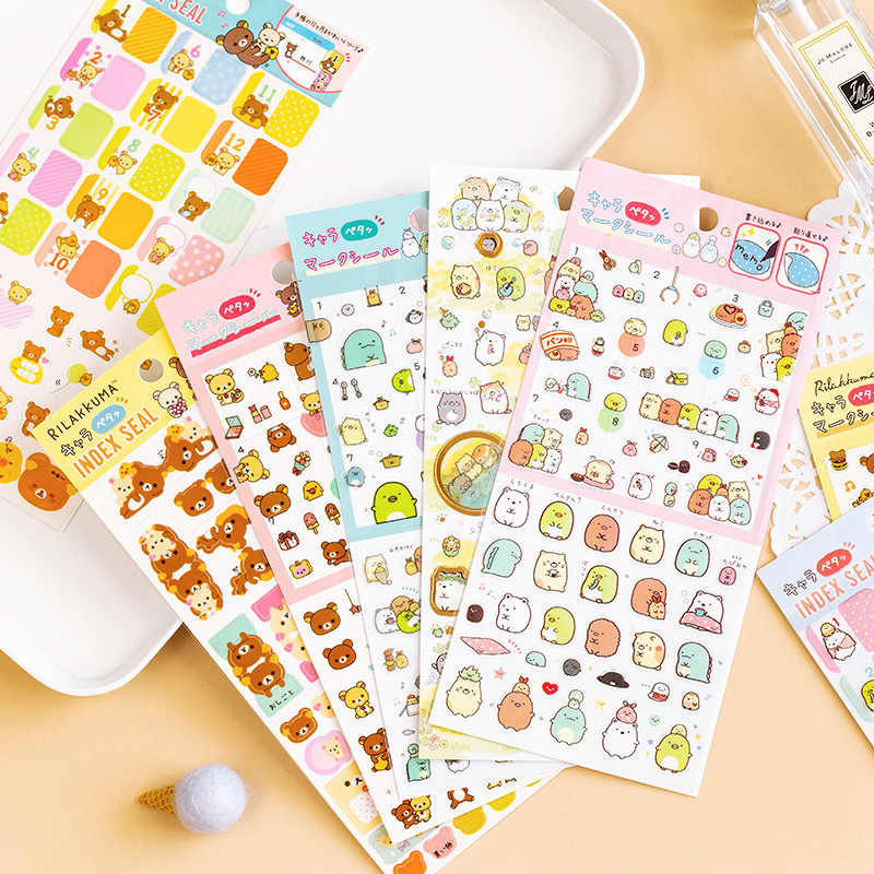 Kawaii Cartoon Pet Rilakkuma Sumikko Gurashi Decoratieve Briefpapier Stickers Scrapbooking Diy Dagboek Stok Label