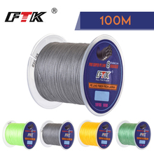 FTK 100m Fishing Line 25-90LB 1.0#-6.0# 8 Braided Smooth Multifilament PE for Saltwater