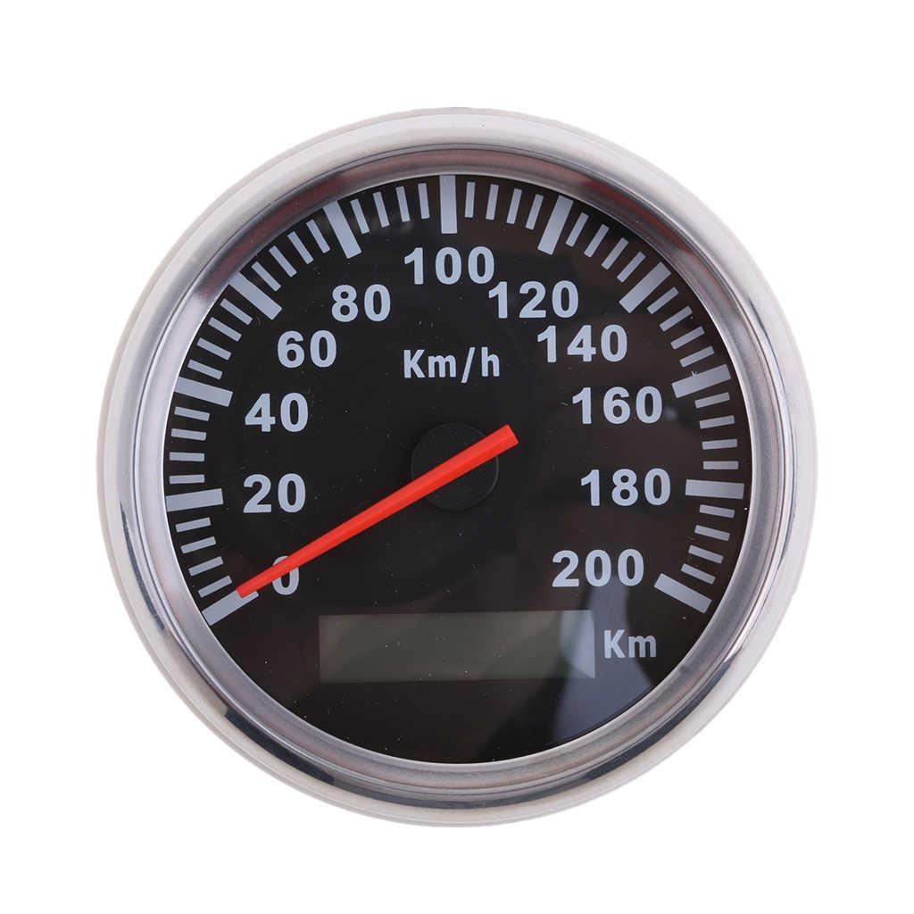 Đồng Hồ Nam Dây Thép Không Gỉ 85 Mm GPS Đo Tốc Độ 200Km/H Đồng Hồ Đo Dùng Cho Xe Ô Tô, Xe Tải Xe Máy Chống Thấm Nước