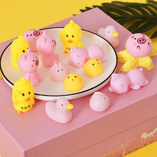 Mini Cute Animal Toy Squeeze Healing Kids Kawaii Toy Stress Reliever Decor Rising Antistress Ball Soft Sticky Cute Funny Gift cute mochi squishy tpr cat healing fun kids kawaii squeeze toy stress reliever decor stres