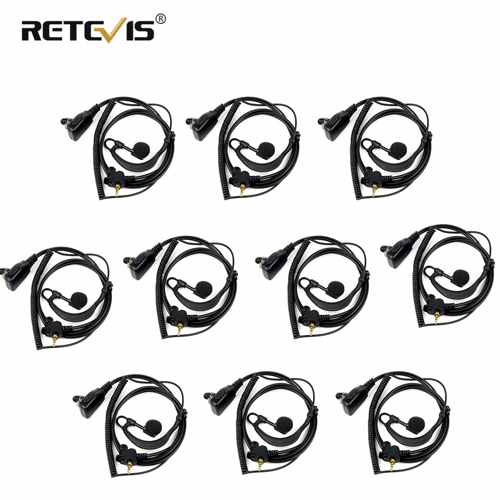 10pcs G-Shape Radio Earpiece Headset For MOTOROLA TETRA MTH800 MTH850 MTP850 Two Way Radio Communicator Walkie Talkie C2153A