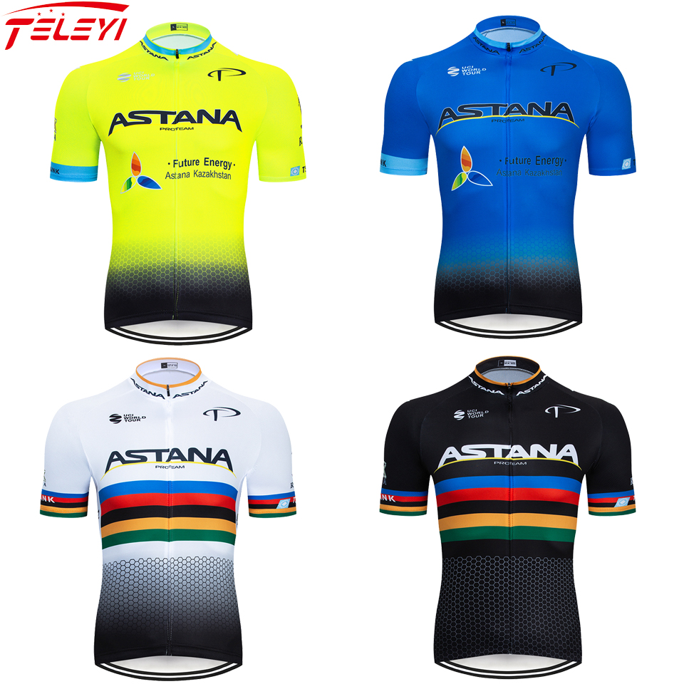 ASTANA 2020 Men's Cycling Jerseys Short Sleeve Bike Shirts MTB Bicycle Jeresy Cycling Clothing Wear Ropa Maillot Ciclismo Hombre