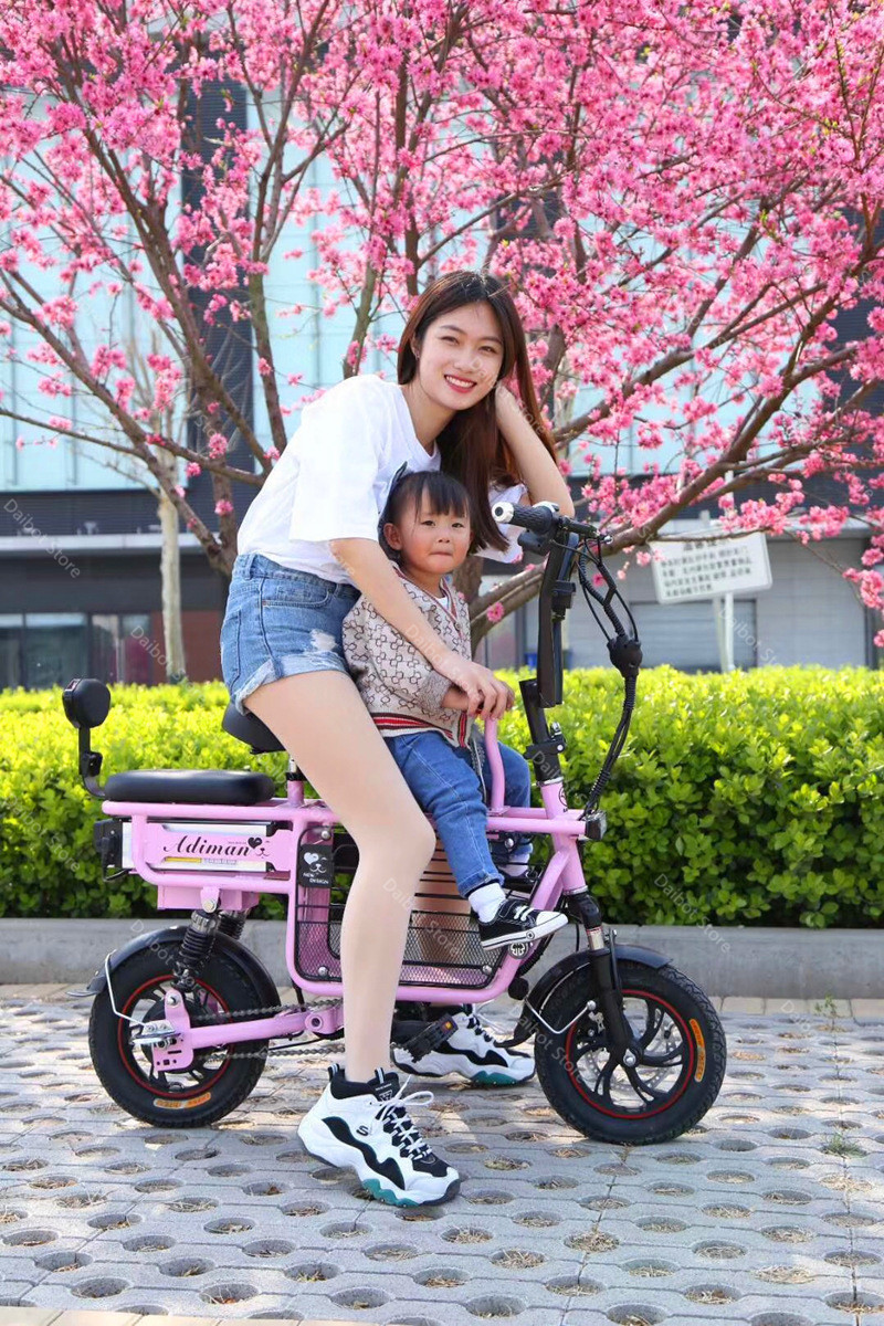 Daibot Portable Electric Bike 2 Wheel Electric Bicycles 12 Inch 350W 48V Parent-child Electric Scooters Adults Removable Battery (37)