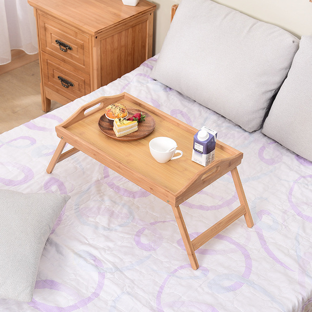 Wooden Portable Foldable Computer Laptop Desk Adjustable Notebook Desk Table Bed Sofa Breakfast Tray Picnic Table Studying Table 3