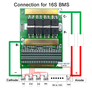 Image 3 - 6 17S BMS 35A 50A 80A 120A 150A18650 LiFePo4 Batteria Al Litio Regolabile Balancer 72V Equilibrio Bordo di Protezione per il Motore Elettrico