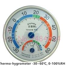 1X Thermometer & Hygrometer 30 ~ 60C Graden 0% ~ 100% RH Wandmontage met Opvouwbare Base Indoor en outdoor Gratis Verzending