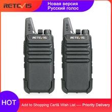 Retevis RT622 RT22 Mini Walkie Talkie 2 uds PMR Radio PMR446 FRS UHF Radio de dos vías portátil VOX de carga USB transceptor portátil