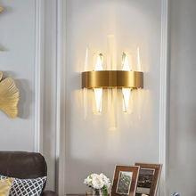 Современный хрустальный настенный светильник jmzm золотой роскошный