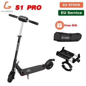 [Бесплатный подарок] [Европейский запас] KUGOO S1 PRO складной электрический взрослый скутер 350 Вт 30 км/ч ЖК-дисплей e скутер для xiaomi M365