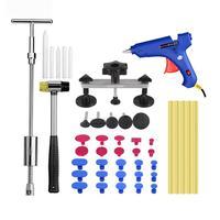 44PCS Car Dent Repair Body Damage Fix Tool Pulling Bridge Puller Dent Removal Glue Hand Repair Tools Kit Paintless Universal
