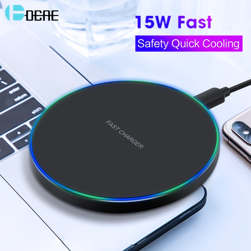 DCAE Wireless-Charger Fast-Charging Xiaomi IPhone Xs Samsung S10 QI Huawei Mi-9 10W 15W