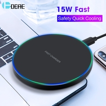 DCAE QI Wireless Charger USB Type C 10W 15W Max for IPhone 11 XS XR X 8 Fast Charging For Samsung S10 Xiaomi Mi 9 Huawei P30 Pro