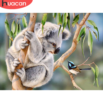 HUACAN Full Square/round Diamond Painting Cross Stitch 5D Koala Embroidery Animal Mosaic Home Decoration - discount item  30% OFF Arts,Crafts & Sewing