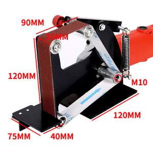 Image 5 - Amoladora angular eléctrica M10/M14, accesorios de adaptador de correa de lijado para máquina pulidora de madera 100/115 125