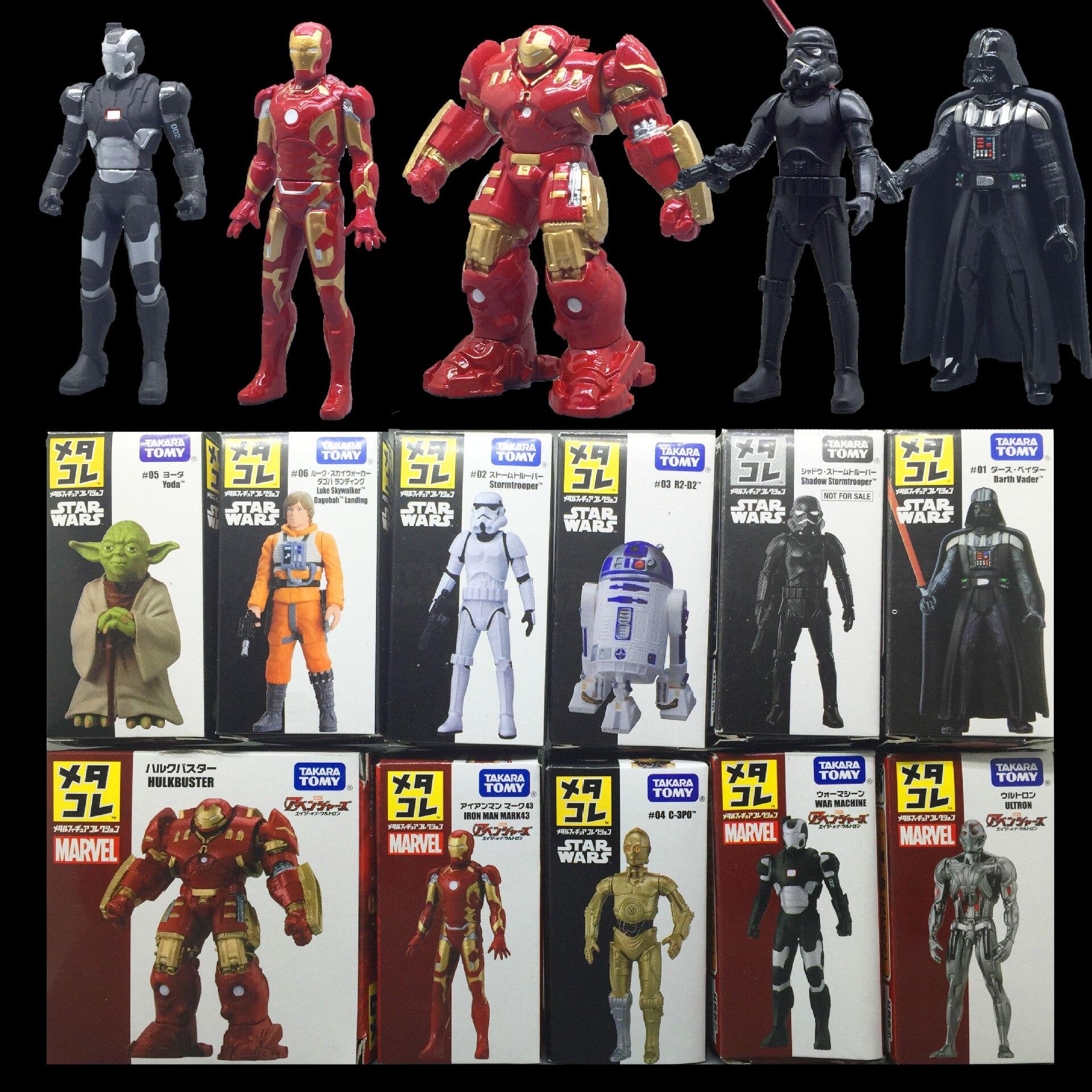 Takara TOMY Original Star Wars Iron Man Anti Hulk Armor Black Samurai Yoda Skywalker Alloy Action Figure Model Kids Toy Gift(China)