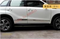 High quality stainless steel body trim strip door anti rub fit for Suzuki Vitara 2015 2016 2017 2018 Car styling with logo
