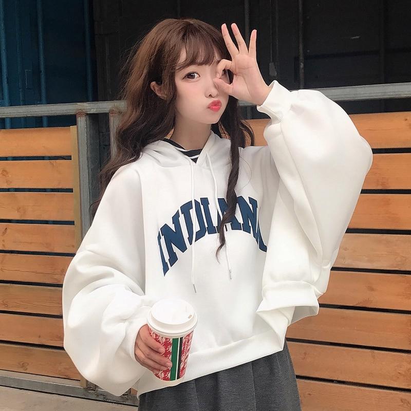 oversized Hoodies Women Thicker Letter Warm Pullover Coat Drawstring Harajuku Sweatshirt Pink Womens Korean New High Quality 10