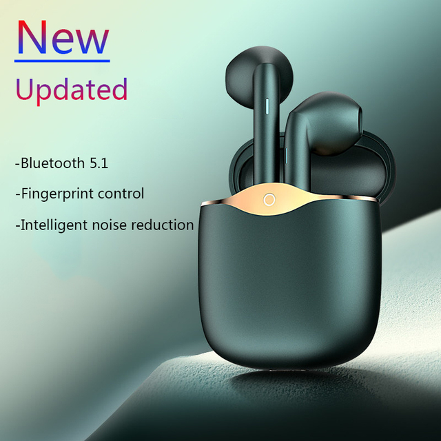 TWS Bluetooth 5.1 Headphones Stereo True Wireless Headphone Earbuds In Ear Handsfree & Mic Earphone Ear Buds For Mobile Phone