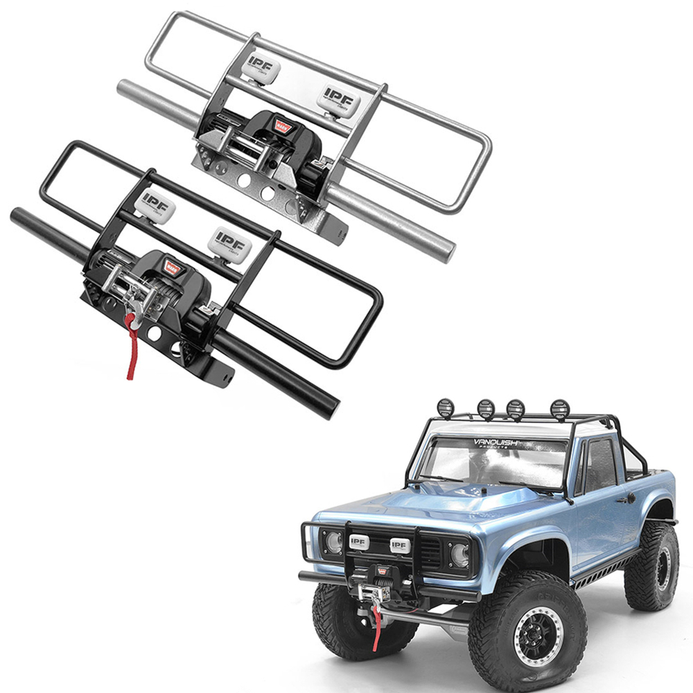 Rc Rock Crawler Car Body Guard Front Bumper With Spotlights For 1/10 Scale VP VS4-10 PRO Model Toys Truck Upgrade Part Accessory