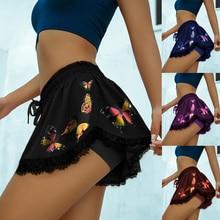 Skirt Short Skorts Tennis Yoga Inner Golf Butterfly High-Elastic Women's Summer Outdoor