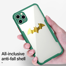 Ultra-thin Magnetic Metal Batman PC Phone Case For iPhone 11 Pro Max SE XSmax XR XS X 8 7 6s 6 Plus Silicone Bumper Cover privacy tempered glass magnetic case for iphone 11 pro max xs max xr x 8 7 6s 6 plus se magnet metal bumper anti peeping cover