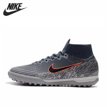 Nike Mercurial SuperflyX VI 360 Elite TF fútbol botines césped fútbol zapatos Euphoria Pack zapatillas hombres Botas Azules