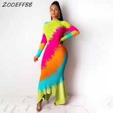 ZOOEFFBB Winter Dresses Night-Club Long-Sleeve Bodycon Leopard Camo Sexy Knit Fashion